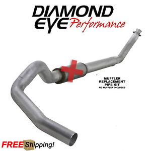 "Diamond Eye K4213A 4/"" Aluminized Turbo-Back Single Exhaust Kit For Dodge Cummins"