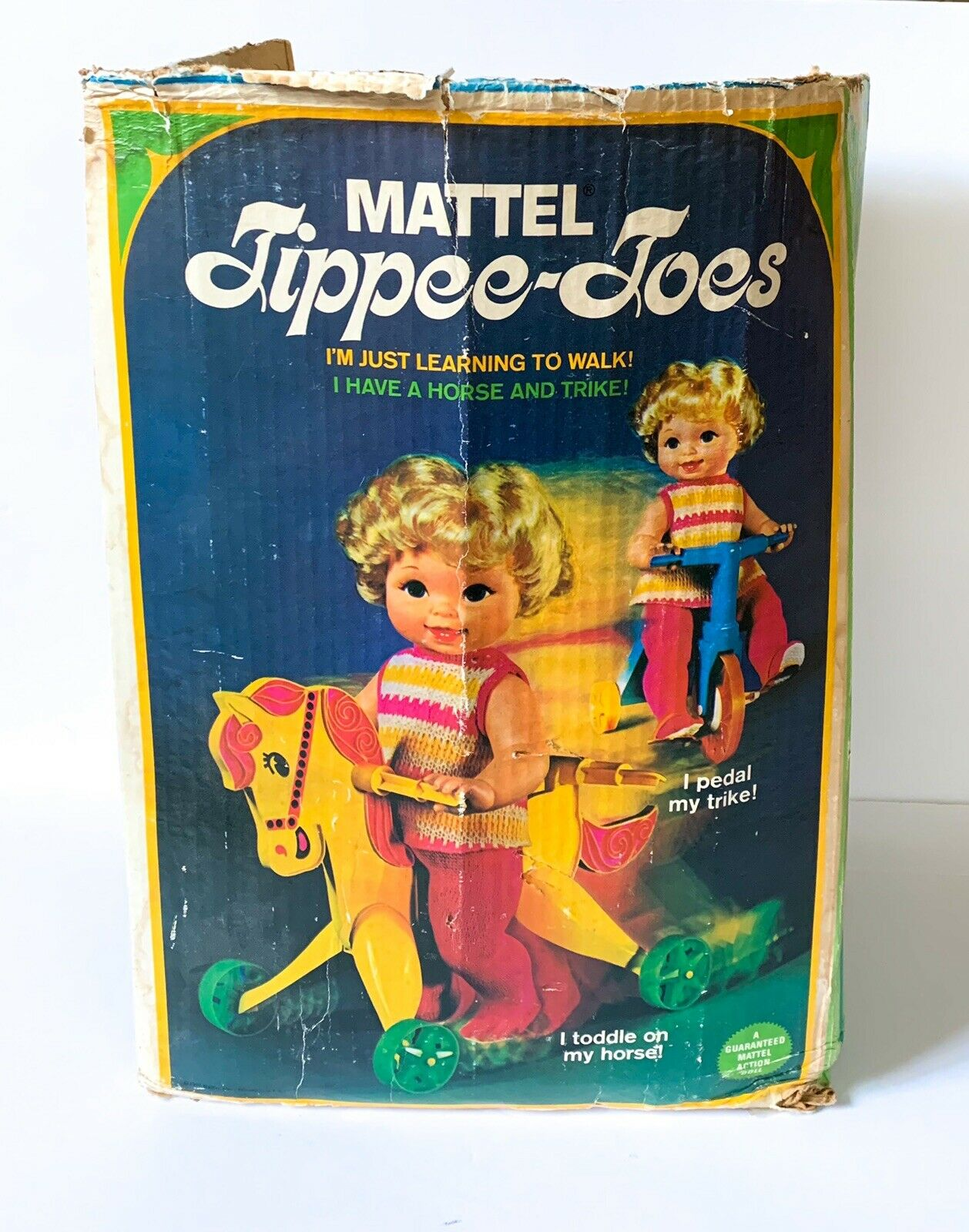 Mattel Tippee Toes doll 1967 with box trike pony outfit