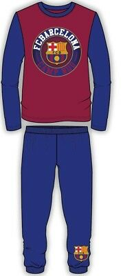 Kids Boys Official Barcelona Pyjamas PJ/'s Nightwear Pyjama Set Sleepwear