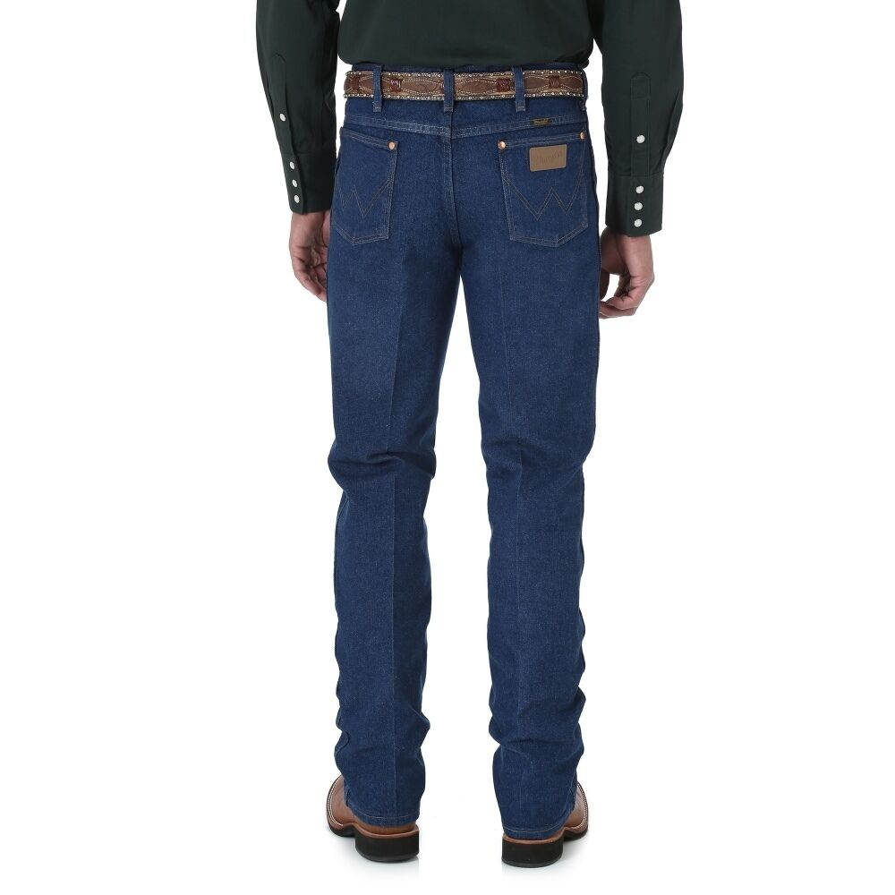 New Men Authentic Wrangler Cowboy Cut@Slim Fit Western Rodeo Jeans bluee