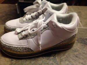 7aa87f1612c4 Nike Air Jordan Force III 3 WHITE GREY SIZE 9 323626-111 -Rare