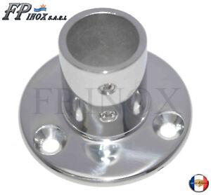 Embase-Platine-Ronde-25mm-De-Luxe-Droite-90-inox-316-A4