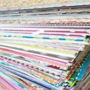 50-Mixed-Lot-of-6-x-6-Scrapbook-Paper-amp-Cardstock-Great-Card-Making-amp-Mats