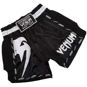 Details about Venum Muay Thai Shorts Giant RRP 49,99 Black White XS 2XL MMA Thai Boxing SALE show original title