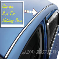 10ft Chrome Silver Diy Top Roof Overlay Molding Trim D.i.y. Kit