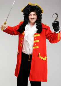 Image is loading Adult-Mens-Captain-Hook-Style-Pirate-Costume-JACKET- 0bbd9288e0b6