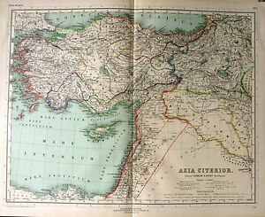 1892 map ancient world asia citerior mare carpathium lycium ebay image is loading 1892 map ancient world asia citerior mare carpathium gumiabroncs Choice Image