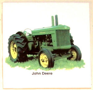Green Farm Tractor John Deere Ceramic Tile