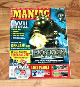 2007 Maniac Magazine Bioshock The Elder Scrolls Iv 4 Fable Ii 2 Lost Planet Zelda-afficher Le Titre D'origine