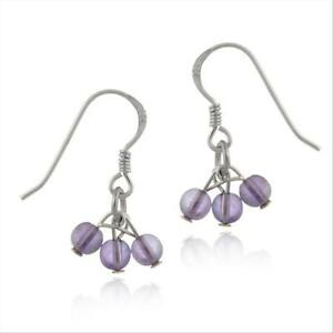925-Silver-Cabochon-Amethyst-Cluster-Dangle-Earrings