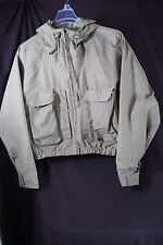 Vtg 80s Columbia GoreTex Orange Label Tan Hunting Rain Coat Jacket Men's Sz L