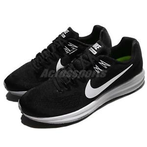 4d361b1715aa4 Nike Air Zoom Structure 21 Black White Men Running Shoes Sneakers ...