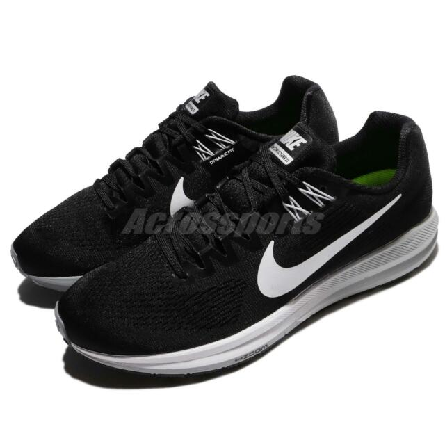 a6ff51320e601 Nike Air Zoom Structure 21 Black White Men Running Shoes Sneakers 904695-001