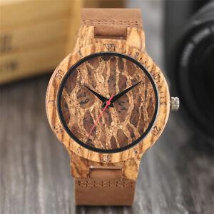 Montre en bois homme artisanal feuilles mortes Handcrafted men's wooden watch