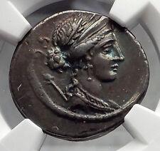 Roman Republic 56BC Rome SULLA the DICTATOR's SON Ancient Silver Coin NGC i60118
