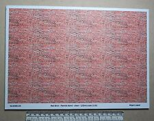 Red brick paper 1/32nd scale - A4 sheet (297 x 210 mm) - Flemish bond (clean)