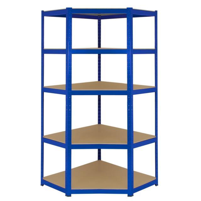 5 tier shelving unit heavy duty metal corner racking garage shelving tier racks bays blue steel shelf unit boltless utility by
