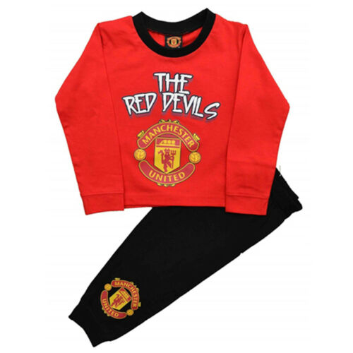 Kids Official Boys Manchester United Toddler Pyjamas Baby Pjs  Age 12M-4Y #MUFC