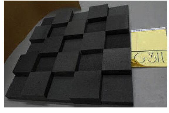 "3"" Thick Studio Acoustic Soundproofing Foam Tiles 30""x 30"""