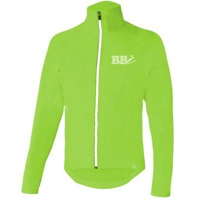Gut Hiviz Cycling Rain Jacket Waterproof Jogging Running Unisex New Top Rain Cover