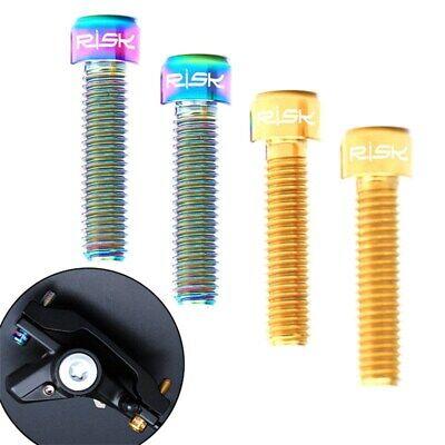 2pcs Titanium Alloy Brake Cable Bolt TC4 Titanium Alloy MTB Bike V Brake Screw