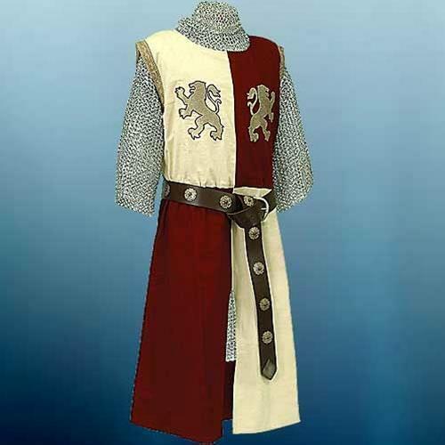 Ancient Tabard Lion Heart Sleeveless Cotton Tunic Theatre Costume