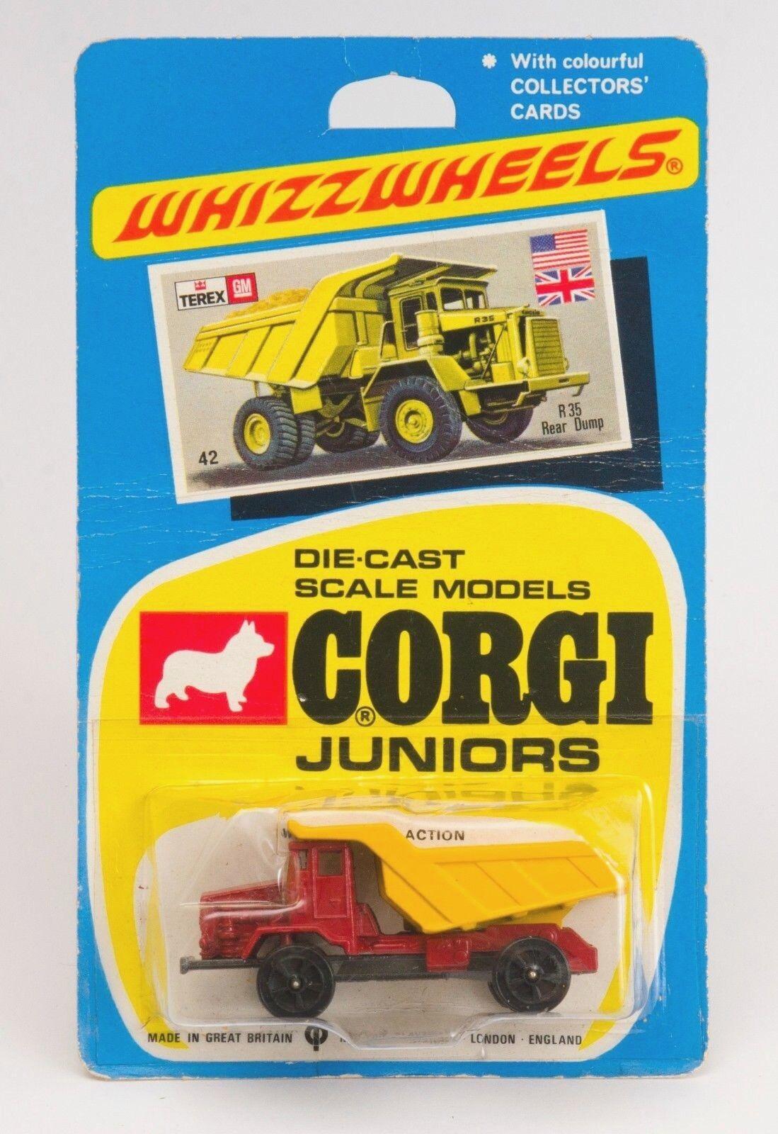 CORGI JUNIORS NO 42 Terex R35 EUCLID Dumper  Camion. Comme neuf voituredée. années 1970  meilleur prix
