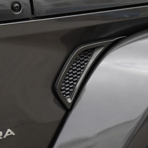 ABS Leaf Plate Air Inlet Trim Cover Decor Carbon Fiber For 18 Jeep Wrangler JL