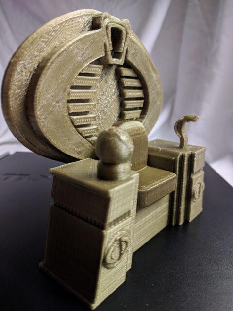 GI Joe Cobra Custom Throne 3D Printed Cobra Commander Destro Serpentor Gold