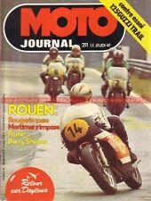 MOTO JOURNAL  211 GUZZI TT 125 Trial ROUEN DAYTONA 1975