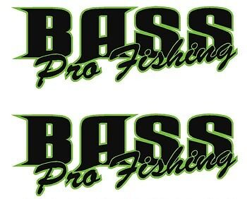 "Cast Vinyl /""Bass Pro Fishing/"" FISHING BOAT NAMES DECAL STICKER GRAPHIC KIT"