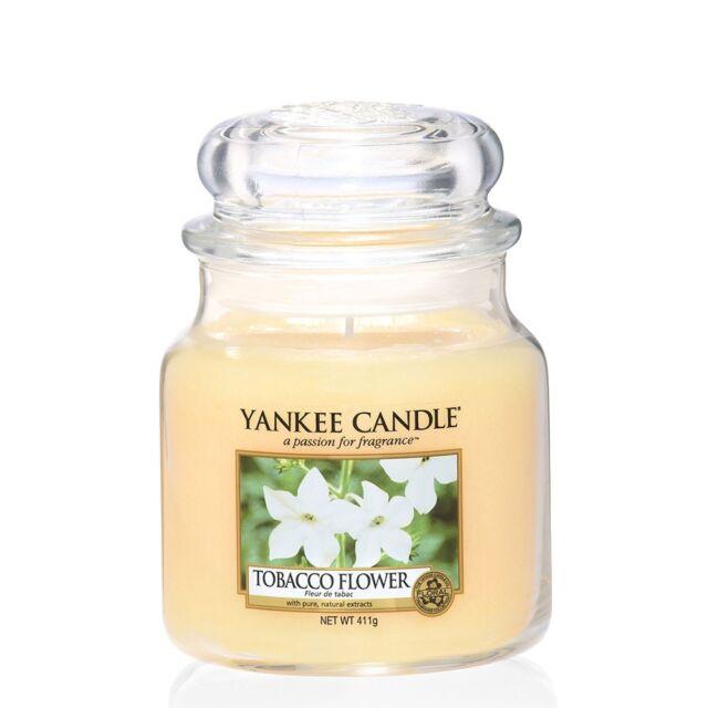 Yankee Candle Jar Duftkerze im Glas 411g Tobacco Flower