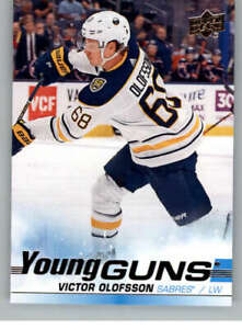 2019-20-Upper-Deck-207-Victor-Olofsson-RC-Rookie-Buffalo-Sabres-Young-Guns