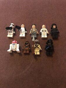 Lego-Complete-Set-of-Minifigures-x-9-bundle-STAR-WARS-Jawa-R2D2-Troopers