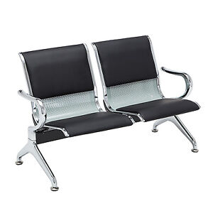 Surprising Details About 2 Seat Airport Reception Chairs Salon Office Waiting Room Bench Pu Leather Machost Co Dining Chair Design Ideas Machostcouk