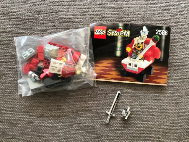 LEGO System Castle 2586 King & Throne + Instructions Included 100% Complete