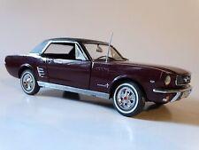 Danbury Mint 1966 Ford Mustang Hardtop 1:24 Scale Diecast Metal Model 66 Car