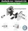 Glasklemme Edelstahl V2A Klemmhalter Glashalter Geländer mit Zulassung AbZ