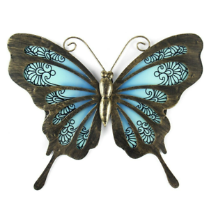 Metal /& Glass Bee Wall Decor hanging sculpture for patio porch