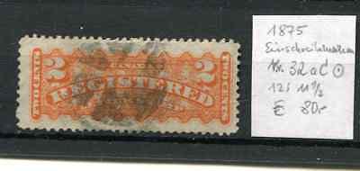12:11 1/2 Gestempelt Reich An Poetischer Und Bildlicher Pracht Kanada Canada 1875 Einschreibemarken Michel Nr.32 Ac
