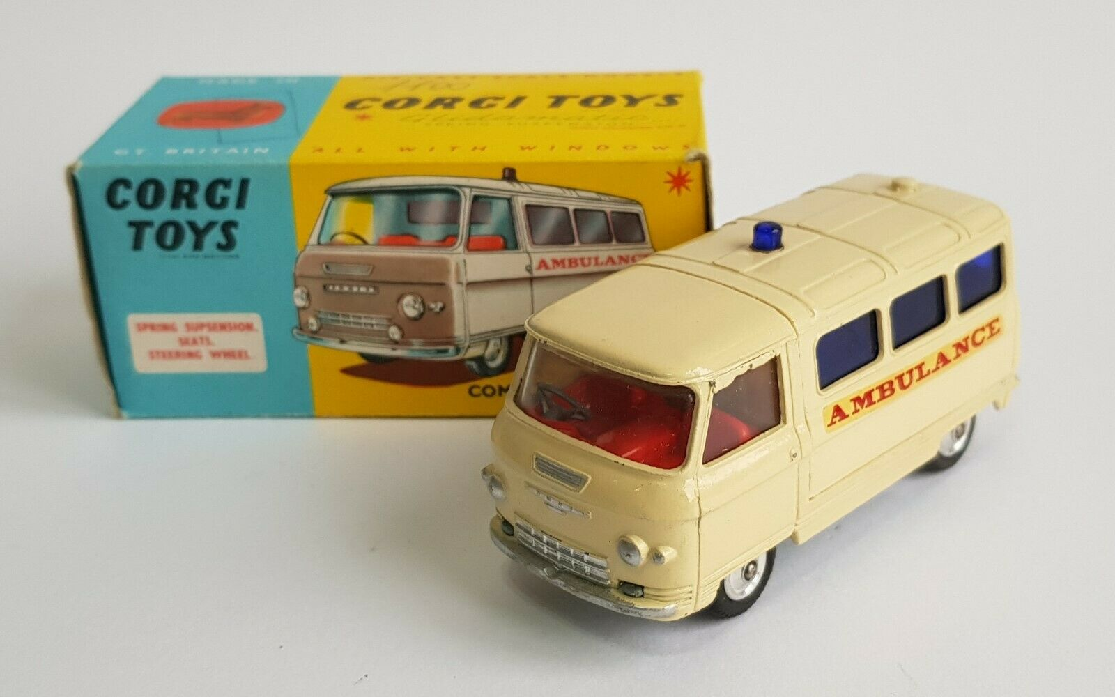 Corgi Spielzeugs No. 463, Commer Ambulance, - Superb Very Near Mint Condition.