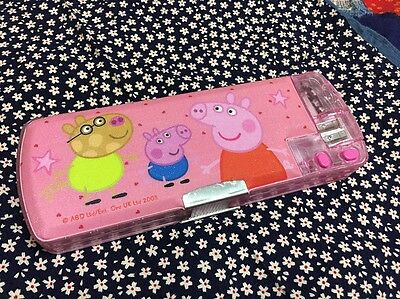New Peppa Pig 2-side Multi-function Pencil Case/Box USA seller school