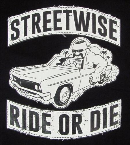STREETWISE RIDE OR DIE T-shirt  Distressed Logo Tee Men    Black NWT