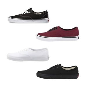 b79140a14cc2 New Vans Authentic Skate Shoes Classic Canvas Men Sneakers All Sizes ...