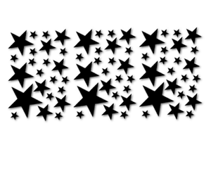 Sterne-Stars-Aufkleber-Autoaufkleber-Schaufenster-Auto-Car-decal-24-8007