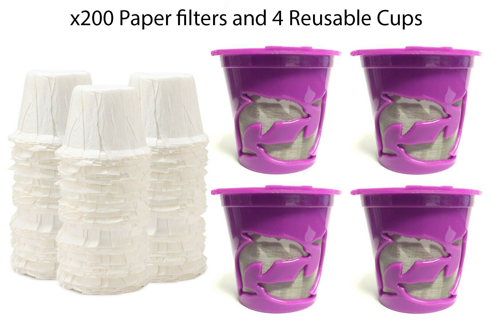x200 Paper Filters & 4 K Cups