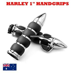 Chrome-1-034-25mm-motorcycle-handlebar-handgrips-for-Harley-dyna-XL-883-1200-08-11