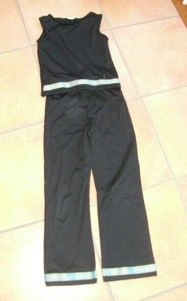 Boys Indian 2 Piece Black Outfit 7-8 yrs