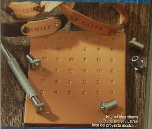 Image Is Loading Leather Stamp Set 36pc 1 8 034 Metal
