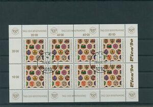 Autriche-Autriche-Vintage-1990-Mi-1990-Timbres-Used-Feuilles-Miniature-Klbg